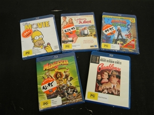 5x New Blu Ray Movies Rated Pg Comprising 1x The Simpsons Movie 1x Letter Auction 0028 5001445 Graysonline Australia