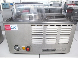 Robot coupe stainless steel counter model ice cream machine 162202 210 auction 0210 5001462 - Robot coupe ice cream maker ...