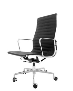 Replica Black Eames 319a High Back Leather Office Chair Auction GraysOnline