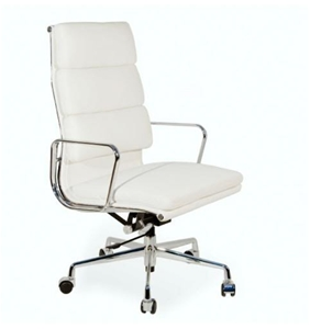 replica white eames 318a high back leather softpad office chair