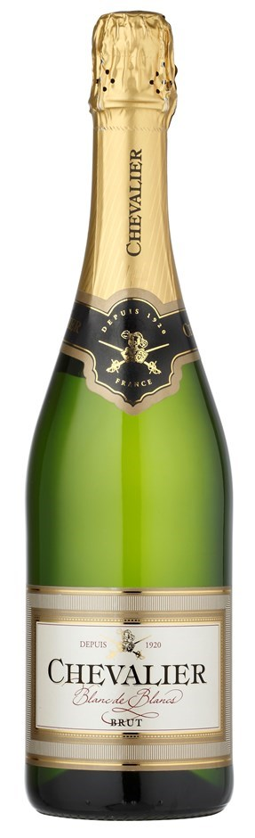 Chevalier Blanc de Blancs Brut NV (12 x 750mL), France.