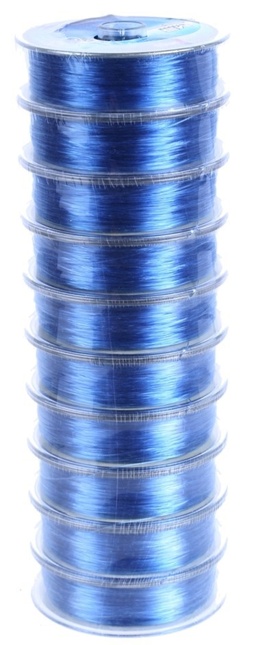 10 Reels x 100M Fishing Line, 0.45mm Monofilament, 22.8kg Test. Buyers Note
