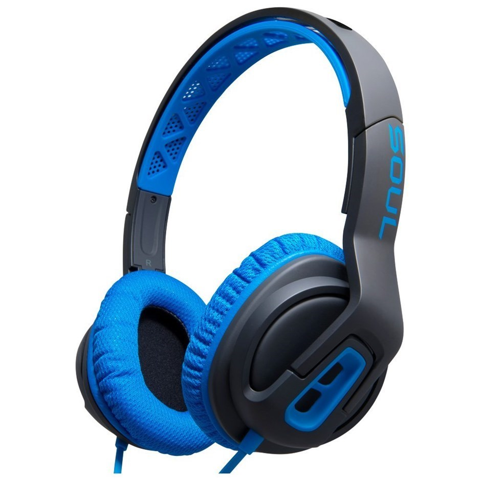 SOUL Transform Superior Active Performance On-Ear Headphones - Blue
