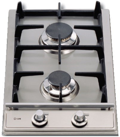 ILVE 30cm Stainless Steel Domino 2 Burner Cooktop (H30VX)