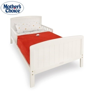 Mothers Choice White Toddler Bed Frame 133x76cm