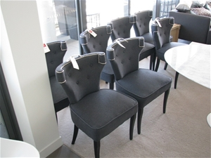 7 X Dining Chairs Make Not Visible Supplied By Coco Republic Charcoal Gr Auction 0002 5001880 Grays Australia