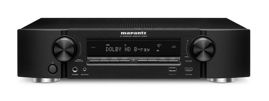 Marantz NR1604 Slim Line 4K Network 7.1 AV Receiver (Black)