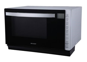 Sharp 850w Flatbed Microwave Oven With Grill Silver