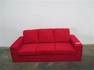 Nixon Sofa Chaise Soft Cover Red