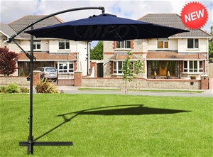 Premium 230g Extra Durable Navy Blue 3m Outdoor Cantilever Patio Umbrella