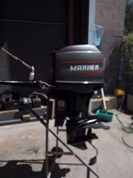 Mariner 40hp Magnum outboard motor, two stroke, 4 cylinder, electric start,