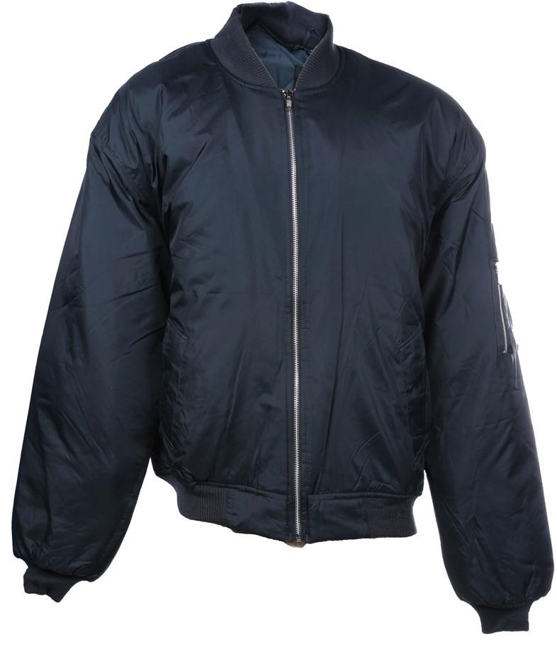 Nylon Flying Jacket, Size 4XL, Zip Front Closure, Waterproof, Navy. Buyers