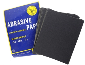 100 x Sheets Abrasive Paper, Water Proof