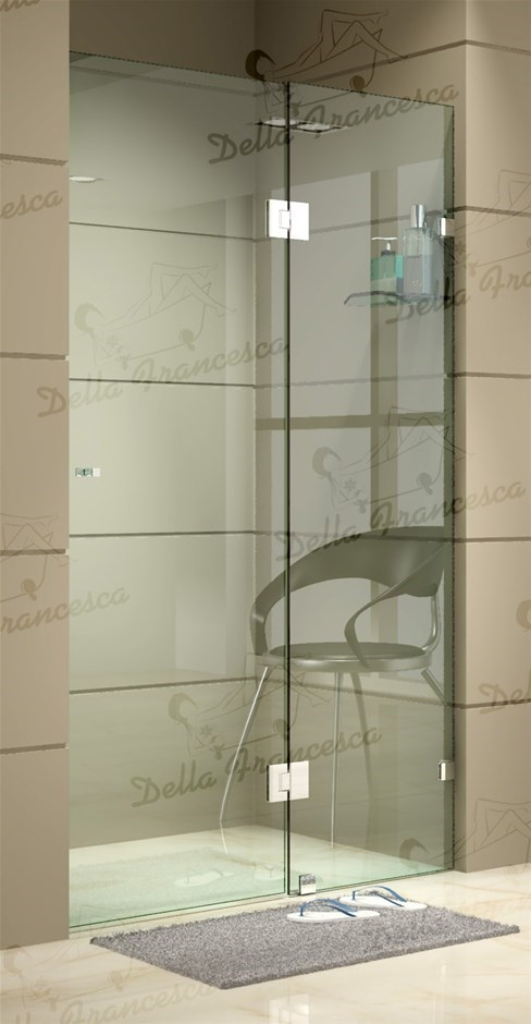 1200 x 2000mm Wall to Wall Frameless Shower Screen 10mm Glass