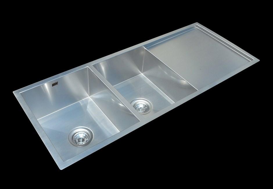 1160x460mmHandmade Stainless Steel Undermount Topmount Kitchen Laundry Sink