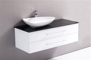 1200mm Wall Hung Bathroom Vanity Unit With Stone Top Basin Auction
