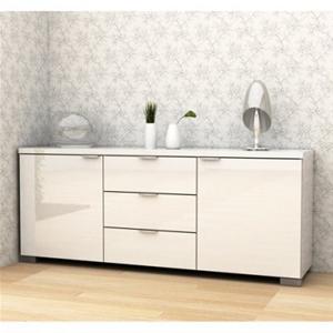 Buy Alexia High Gloss Buffet - White | GraysOnline Australia