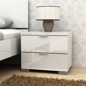 Buy Alexia High Gloss Bedside Table White Graysonline