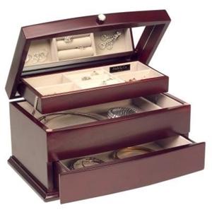 2 X Mele Amp Co Large Wooden Jewellery Box Bonita Auction