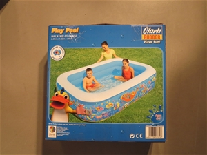 Clark Rubber Rectangular Play Pool Code No 37831 Auction 0033 3012011