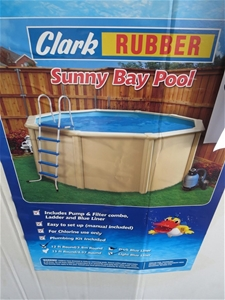 Clark Rubber Sunny Bay 12ft Round Bay Pool Kit Code No 39521 Auction 0067 3012011