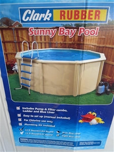 Clark rubber sunny bay 12ft round bay pool kit code no Clark rubber swimming pool above ground