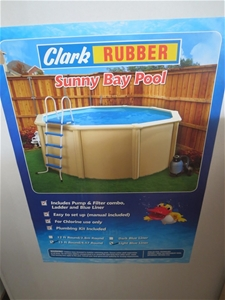 clark rubber swimming pool above ground clark rubber sunny bay 15ft round pool kit code no n a