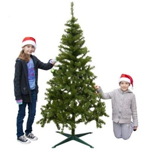 Christmas Tree 1 8m Green Pre Lit White Lights