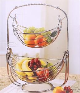 Mesa 2 Tier Fruit Basket Chrome Finish 29cm W X 36cm 47cm H