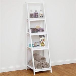 Groovy 4 Tier Bathroom Ladder Shelf White Download Free Architecture Designs Estepponolmadebymaigaardcom
