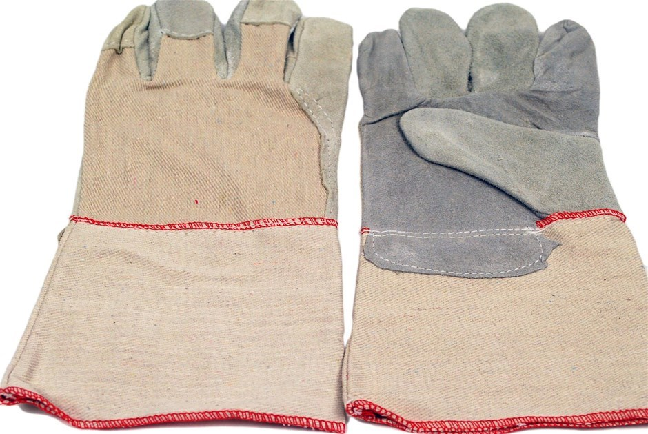 12 x Pairs Leather Palm General Purpose Gloves Size XL, With Extended Cuff.