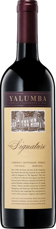 Yalumba `The Signature` Cabernet Shiraz 2014 (6 x 750mL), Barossa, SA.